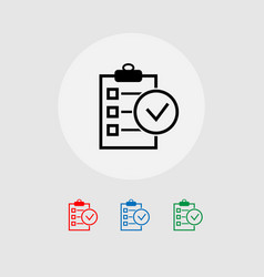 save the clipboard check list concept of business vector image