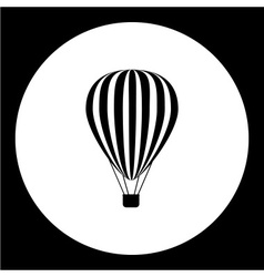 simple hot air balloon isolated black icon eps10 vector image vector image