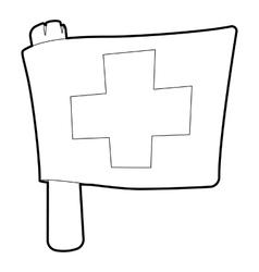 Switzerland flag icon outline style vector