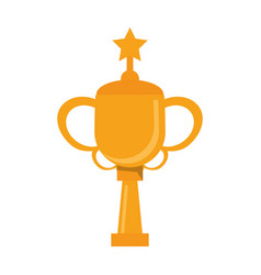 Trophy star winner game vector