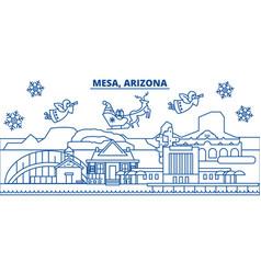 usa arizona mesa winter city skyline merry vector image vector image