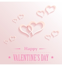 Valentine backgrond with hearts vector image vector image