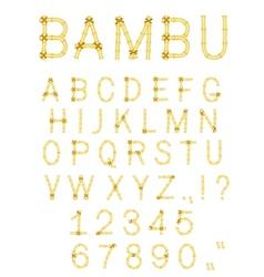 Vector bamboo font vector
