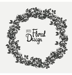 Vintage floral wreath vector