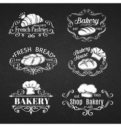 vintage label bakery vector image vector image