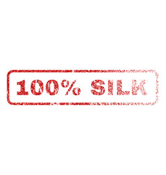 100 percent silk rubber stamp vector image vector image