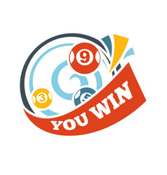 Bingo lotto win lottery lucky numbers icon vector