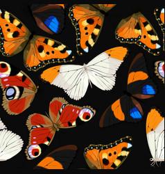 Blue butterflies seamless vector