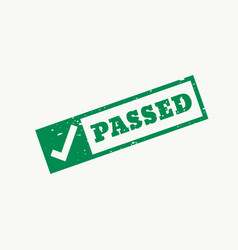 Passed stamp checkmark sign and symbol vector