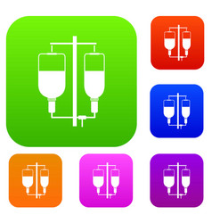 intravenous infusion set collection vector image