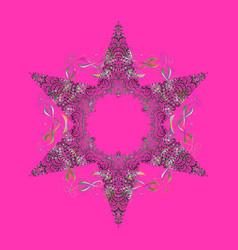 Symbol of celebration snowflake winter isolated vector