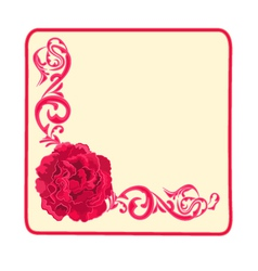 Button business card roses and ornaments vector