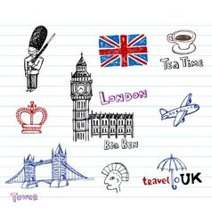 London Doodles vector image