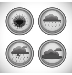 Weather status in buttons icons vector