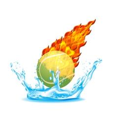 tennisball vector image