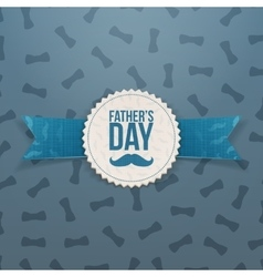 Fathers day banner with ribbon and text vector