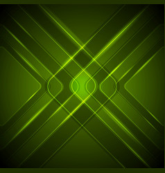 Abstract dark green tech glossy background vector