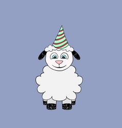 Baby lamb cartoon vector