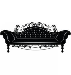 Baroque imperial sofa vector