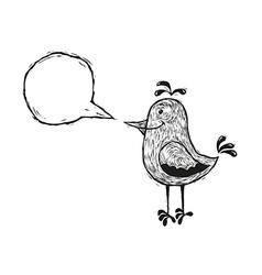 bird with speech bubble vector image vector image