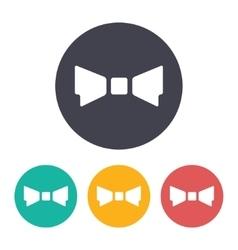 Bow-tie icon vector