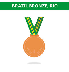 Bronze medal brazil rio olympic games 2016 vector