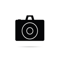 Camera shutter icon in black color art vector