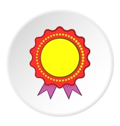 Certified quality label icon cartoon style vector