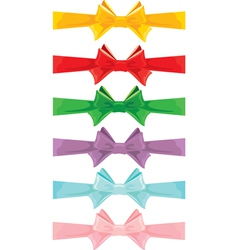 color bow set 380 vector image vector image