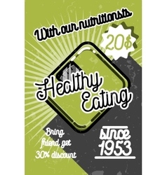 Color vintage nutritionist poster vector