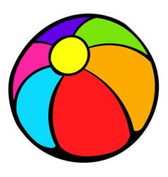 colorful ball icon icon cartoon vector image vector image