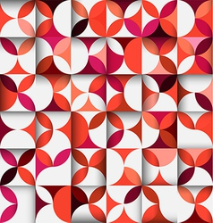 colorful floral shape pattern or geometric concept vector image vector image