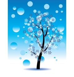 Decorative winter tree2 vector