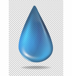 Droplet of blue liquid vector