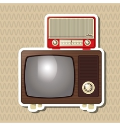 Flat about vintage tv design vector image