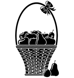 Fruit basket vector