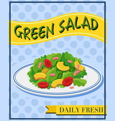 Green salad on menu vector