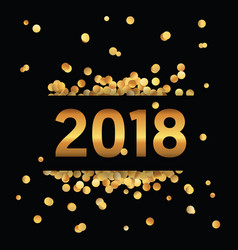 happy new year golden glitter background vector image