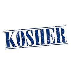 Kosher blue grunge vintage stamp isolated on white vector