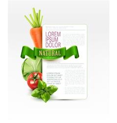 menu pattern with vegetables vector image