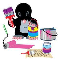 Mole home painter vector