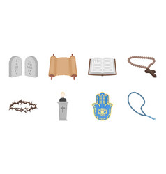 Religion and belief icons in set collection for vector
