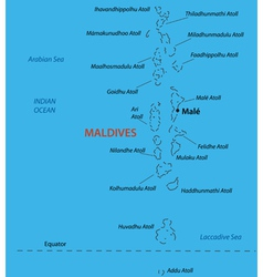 Republic of the Maldives - map vector image
