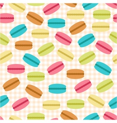 seamless pattern of macaroons vector image