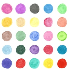 Set of colorful watercolor hand painted circle vector image vector image