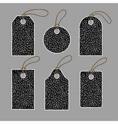 Set of tags in white dots vector