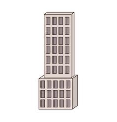 skyscraper building icon colorful silhouette vector image vector image