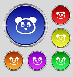 Teddy Bear icon sign Round symbol on bright vector image