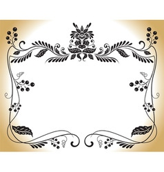 victorian scroll floral vector image vector image