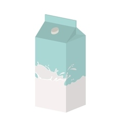 Full color with milk carton vector